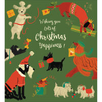 Large Christmas Gift Bag with Gift Tag Museums /& Galleries Winter Walkies Dogs