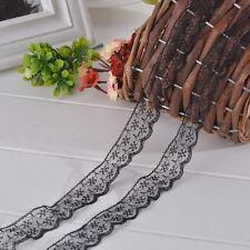dentelle noire 2cm de largeur vendu au metre