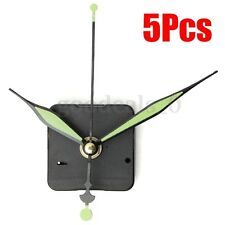5Pcs DIY Quartz Clock Movement Mechanism Green Spindle Hands Repair Parts Kit
