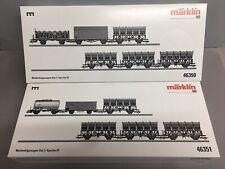 🤩 Märklin 46350 + 46351 Muldenkippwagen-Set 1+2, Neu!, Ovp!