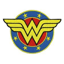 Wonder Woman Shield Emblem Iron-On Patch Superhero Fan Costume Craft Applique