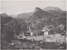 D5746 Val di Susa - L'Orrido di Foresto - Stampa d'epoca - 1932 vintage print