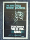 INCREDIBLE MELTING MAN Original 1970s Horror One Sheet Movie Poster Ann Sweeny