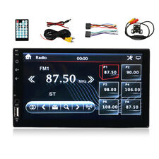 7'' Double 2 Din bluetooth Touch Screen Car MP5 Stereo FM Player + Rear
