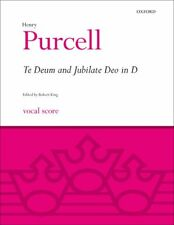 Te Deum and Jubilate Deo in D Vocal score Purcell, Henry 9780193385894 Paperback