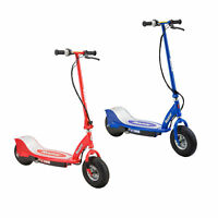 Razor E300 Electric 24 Volt Rechargeable Motorized Kids Scooters, Red & Blue