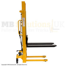 New Hydraulic 1000kg Manual  Lifter Mover Pallet Stacker 2.5 m lift VAT INC.