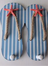 DOUBLE FLIP FLOP COAT HOOK,WITH STAR FISH ,SHABBY CHIC