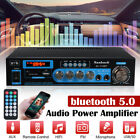 2000WHiFi Power Amplifier bluetooth 5.0 Car Stereo Audio 2 Channel AUX Amp