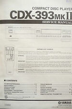 Service Manual for Yamaha CDX-393 MKII ,ORIGINAL