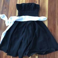 Ladies Size 8 Black Strapless Evening Formal Graduation Bridesmaid Dress Lined