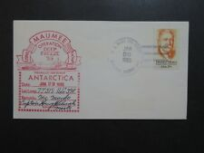 US 1985 USNS Maumee Deep Freeze Antarctic Cover / Location Signed - Z9226