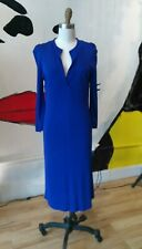 Archival MM4 Cobalt Blue Martin Margiela Double Layered Rayon Dress Italy 46