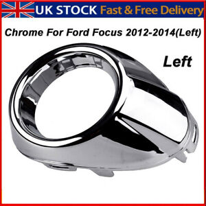 CHROME FRONT BUMPER FOG LIGHT LAMP COVER SURROUND FIT FOR FORD FOCUS 2012-2014