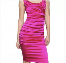 Dolce & Gabbana Silk Draped Dress, Pink, Size IT46, Excellent Condition As New!