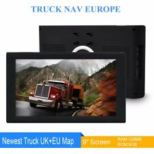 "New 9"" Truck Sat Nav 2018 UK & EU Maps POIs For HGV Lorry LGV ULTRA Navigation"