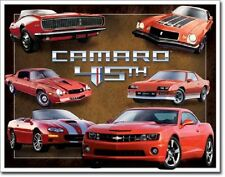 Chevy Camaro 45th Anniversary American Muscle Car Wall Art Decor Metal Tin Sign