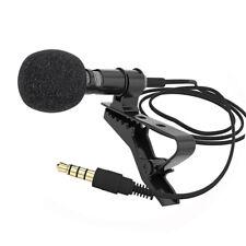 3.5mm Lavalier Clip Micro Mini Mic Microphone For Mobile Phone PC Recording