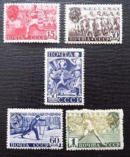 Sowjetunion  753-757 * , Sc 784-788 MH , Tage der Körperkultur, Qualitätsgrad II