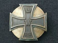 RARE ORIGINAL GERMAN WW1 IRON CROSS 1ST CLASS, 800 SILVER ,DOUBLE SCREW BACK