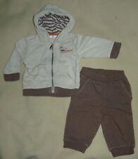 Ensemble veste à capuche + pantalon beige-marron bébé garçon 6 mois Kitchoun BE