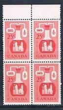 Canada 1956 25c Red BLOCK 4 SG 489 MNH