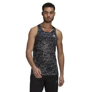 adidas Primeblue Singlet Men's Running Vest, Black