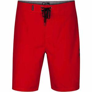 "Hurley Mens O&O 21"" Swimwear Board Shorts Gym Red Size 38"
