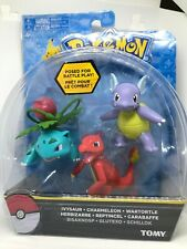 TOMY Pokemon Ivysaur + Charmeleon + Wartortle Set 3 Figures New Rare