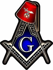 "ProSticker 119 (One) 4"" Masonic Shriner Compass Square Fez Decal Sticker Lodge"