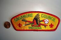 OA SAGAMORE COUNCIL SHOULDER PATCH CSP INDIANA GREEN PIPE SERVICE FLAP
