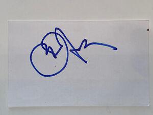 Owner Jerry Jones signed Dallas Cowboys HOF NFL Index Card JSA COA