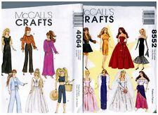 """McCalls 4064 & 8552 Barbie & Ken 11 1/2"""" Doll Clothes Pattern s Vintage Uncut"""