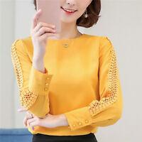 Chiffon Blouse Women Autumn Long Sleeve Ladies Office Shirts Korean Top LJ
