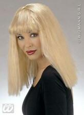 Ladies Long Blonde Wig With Fringe Lady Gaga Phoebe From Friends Fancy Dress