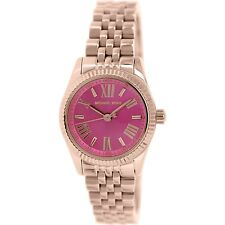 Michael Kors Womens Lexington MK3285 Rose-Gold Stainless-Steel Fashion Watch