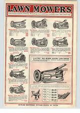1919 PAPER AD Majestic King Aero High Wheel Park Triumph Push Reel Lawn Mower