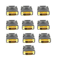 NEW Lot of (10) DVI-D 24+1 Pin Male HDMI Female Adapter for HDTV LCD/LED Monitor
