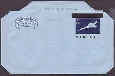 VANUATU overprint on New Hebrides 15fnh Concorde aerogramme fine unused....36501