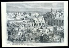 Peru, earthquake in Arequipa ...wood engraving...1868
