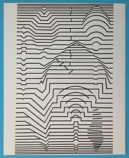 Victor VASARELY VI Offset Originale 1973 Op Art Optique Cinétique