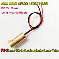 DC 3V 5mW Cross Laser Head 650nm 9mm Mini Laser Diode Module Head WL Red Tube