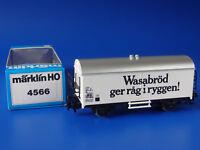 MARKLIN H0 - 4566 - Refrigerator Car: SJ - Wasabröd / BOX - LN