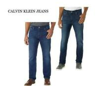 MEN'S CALVIN KLEIN JEANS STRAIGHT LEG JEANS! SITS AT WAIST! VARIETY!
