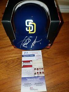 Fernando tatis Jr Autographed Mini Helmet JSA Authenticity