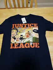 Justice League Blue T shirt Medium Brand NEW with tags.