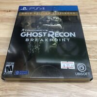 Tom Clancy's Ghost Recon Breakpoint Gold Steelbook Edition PlayStation 4 PS4 New