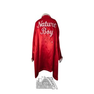Ric Flair Autographed Red Feather Nature Boy Robe w/ Inscription - JSA COA