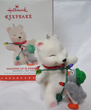 Snowball & Tuxedo WRAPPED UP IN FRIENDSHIP HALLMARK 2015 ornament New in Box