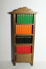 Dollhouse Living Room Study Furniture Wooden Bookcase with Books